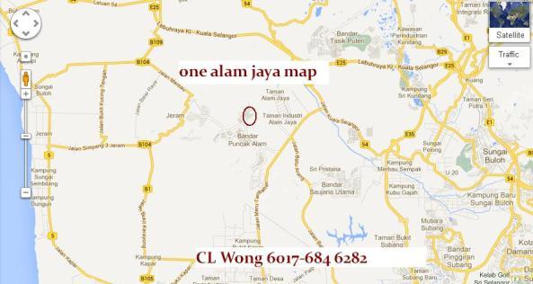 one alam jaya map CL Wong 6017-6846282